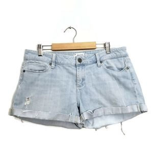 Paige Distressed Jimmy Jimmy Denim Shorts